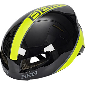 BBB Tithon BHE-08 Casque, glossy black/neon yellow